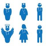 Vectorillustratie van verpleegster Royalty-vrije Stock Foto's