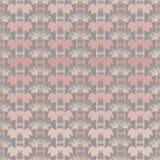 Vectorillustratie van verschillende schaduwen van roze en grijze vrolijke varkensgezichten vector illustratie