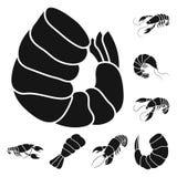 Vectorillustratie van vlees en delicatesseembleem Reeks van vlees en krab vectorpictogram voor voorraad royalty-vrije illustratie