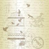 Vectorillustratie, van vogelkooi stock illustratie