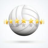Vectorillustratie van volleyballbal met gouden Royalty-vrije Stock Fotografie