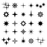 Vectorillustratie van vonken en vonkenelementen en symbolen Stock Foto's