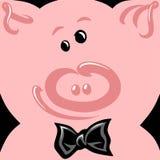 Vectorillustratie van vrolijk gelukkig gezicht van varken royalty-vrije illustratie