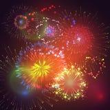 Vectorillustratie van vuurwerk en voetzoekers Royalty-vrije Stock Foto