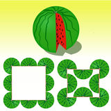 Vectorillustratie van watermeloen Stock Foto
