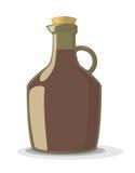 Vectorillustratie van wijnfles Stock Fotografie