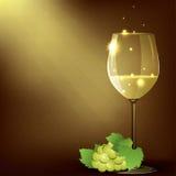 Vectorillustratie van wineglasse met witte wijn Royalty-vrije Stock Fotografie