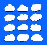 Vectorillustratie van wolkeninzameling Stock Afbeeldingen