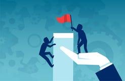 Vectorillustratie van zakenlieden die voor winst uitdagen stock illustratie