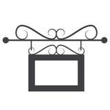 Vectorillustratie van zwart leeg kader voor foto Stock Afbeelding