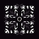 Vectorillustratie van zwart-wit naadloos bloemenornament Royalty-vrije Stock Afbeelding