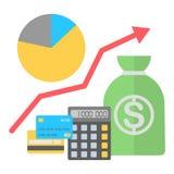 Vectorillustratie in vlakke stijl Financiën groeiend concept vector illustratie