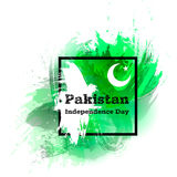 Vectorillustratie voor 14 August Pakistan Independence dag in grungestijl De affiche van het ontwerpmalplaatje, banner, flayer Stock Foto's