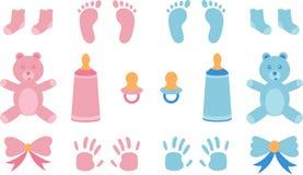 Vectorillustratie voor de douche van de babyjongen stock illustratie