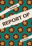 Vectorillustratie voor Kerstmisrapport Royalty-vrije Stock Afbeelding