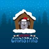 Vectorillustratie voor vakantie Vrolijke Kerstmis Royalty-vrije Stock Afbeeldingen