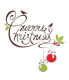 Vectorillustratie -- Vrolijke Kerstmis Royalty-vrije Stock Fotografie