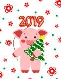 Vectorillustratie Weinig varken, piggy karakter stock foto's