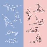 Vectorillustratie - Yoga voor zwangere vrouwen Royalty-vrije Stock Foto's