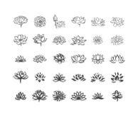 Vectorillustratieconcept Abstract vector het symboolpictogram van de lotusbloembloem op witte achtergrond stock illustratie
