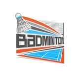 Vectorillustratieembleem voor badminton stock illustratie