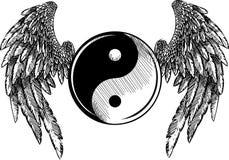 Vectorillustratiegodsdienst, Ying, Yang, Tao, Zen, Cultuur stock illustratie