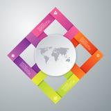 Vectorillustratieinfographics vier opties Stock Afbeeldingen