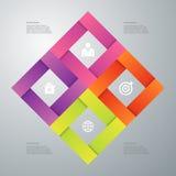 Vectorillustratieinfographics vier opties Stock Afbeelding