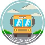 Vectorillustratieonthaal terug naar school op de bus vector illustratie