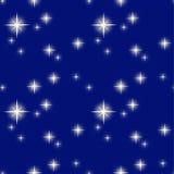 Vectorillustratiepatroon van een sterrige nacht Royalty-vrije Stock Foto