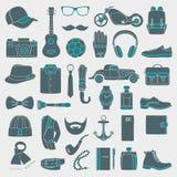 Vectorillustratiereeks van maniertoebehoren en van stijlmensen kleding Stock Foto's