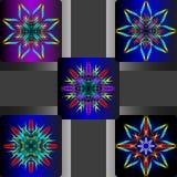 Vectorillustraties van kleurrijke bloem royalty-vrije stock fotografie