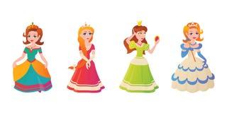 Vectorillustration χαρακτήρα πριγκηπισσών Στοκ Εικόνες
