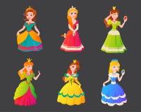 Vectorillustration del carattere di principessa Immagini Stock Libere da Diritti