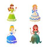 Vectorillustration del carácter de la princesa Fotos de archivo