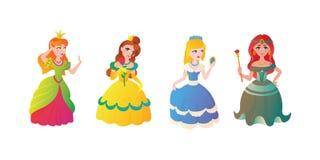 Vectorillustration do caráter da princesa Fotos de Stock