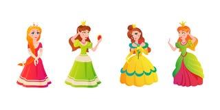 Vectorillustration van het prinseskarakter Stock Foto