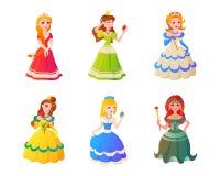 Vectorillustration van het prinseskarakter Royalty-vrije Stock Foto's