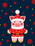 Vectorillustrtion Weinig varken, piggy karakter royalty-vrije stock fotografie