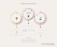 Vectorinfographic-etiketontwerp met 3 opties royalty-vrije illustratie