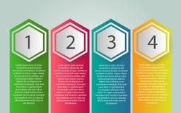 Vectorinfographic-etiketontwerp met pictogrammen en 4 opties of stap stock illustratie
