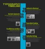 Vectorinfographic-het rapportmalplaatje van de typografiechronologie Royalty-vrije Stock Foto