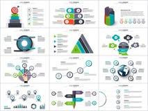 Vectorinfographics, diagramgrafiek en grafiek Stock Afbeeldingen