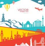 Vectorinfographics-Reis Stock Afbeeldingen