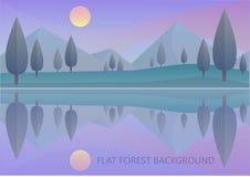 Vectorinformatie van het landschap Stock Afbeeldingen