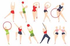 Vectorinzameling van atleten - deelnemers van de Olympische Spelen vector illustratie