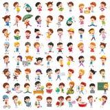 Vectorinzameling van Beeldverhaalkinderen stock illustratie