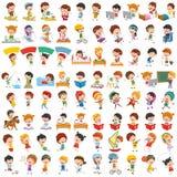 Vectorinzameling van Beeldverhaalkinderen royalty-vrije illustratie