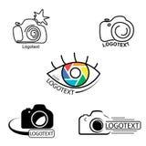 Vectorinzameling van de malplaatjes van het fotografieembleem Royalty-vrije Stock Afbeeldingen