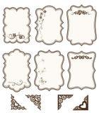 Vectorinzameling van decoratieve plakboekelementen voor uw ontwerp Vector bloemensilhouet Stock Fotografie
